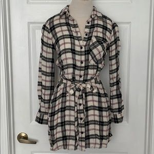 Forever 21 Flannel Dress- S